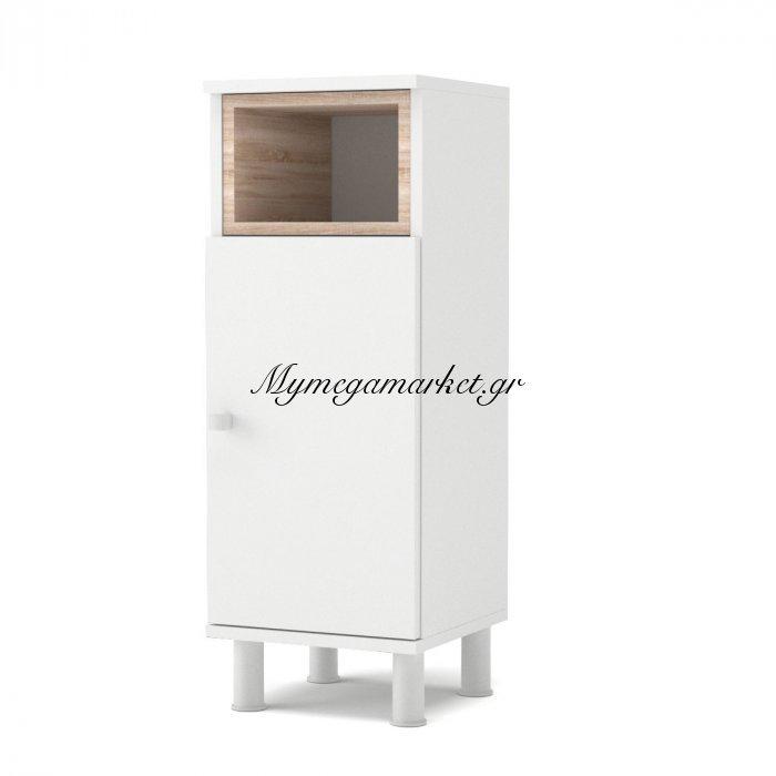 Ντουλάπι Μπάνιου Lotus Χρώμα Λευκό-Σονόμα, 30*30*81.8 To-Lotus1Dwhite   Mymegamarket.gr