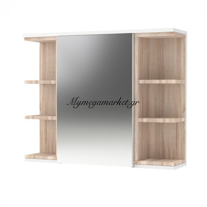 Καθρέπτης Μπάνιου Lotus Με Ντουλάπι Και Ράφια , Χρώμα Λευκό-Σονόμα  79.6*20*64 To-Lotusmcwhite   Mymegamarket.gr