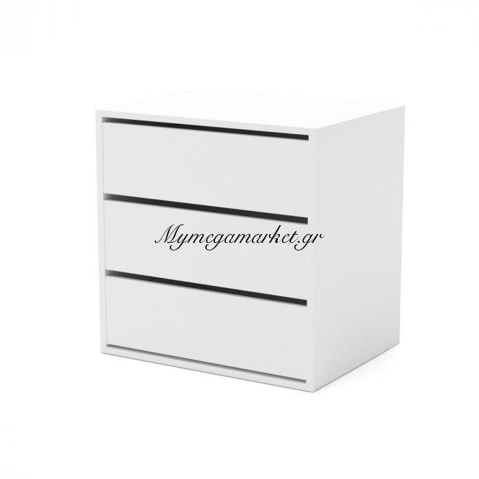 Συρταριέρα Verona3S Με 3 Συρτάρια Λευκό Χρώμα 64,7*49,5*65, Εσωτερική Για Ντουλάπα Verona  To-Verona3S | Mymegamarket.gr