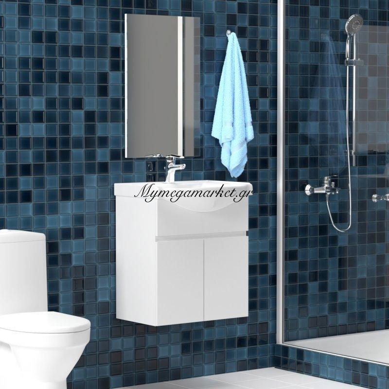 Σετ Μπάνιου, Bianca, Κρεμαστό Έπιπλο Με Νιπτήρα Και Καθρέπτη, Set-Bianca65 Στην κατηγορία Έπιπλα μπάνιου | Mymegamarket.gr
