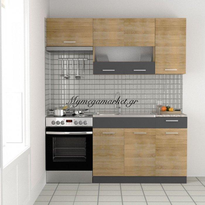Κουζίνα Hrystyna Σετ (Με Δυνατότητα Επέκτασης), Σονόμα-Γραφίτης, Σετ 5 Κουτιών Για Κουζίνα, Άνω Κουτιά 180 Εκατοστά Κάτω 120 Εκατοστά (3 Τρέχοντα Μέτρα) To-Hrystyna | Mymegamarket.gr