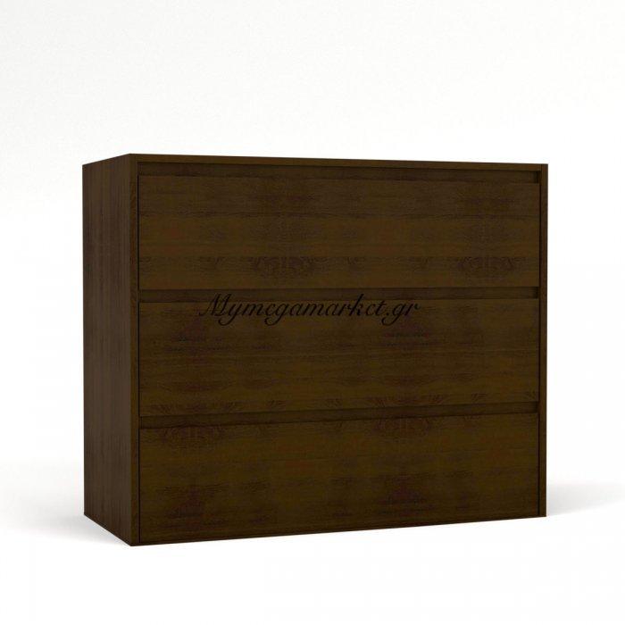 Συρταριέρα Alabama 96X42X83 Τρία Συρτάρια, Wenge To-Ala3S | Mymegamarket.gr