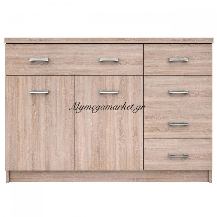 Μπουφές Κομ 2D5S 120X33X85, Sonoma, Με 5 Συρτάρια  To-Kom2D5S | Mymegamarket.gr