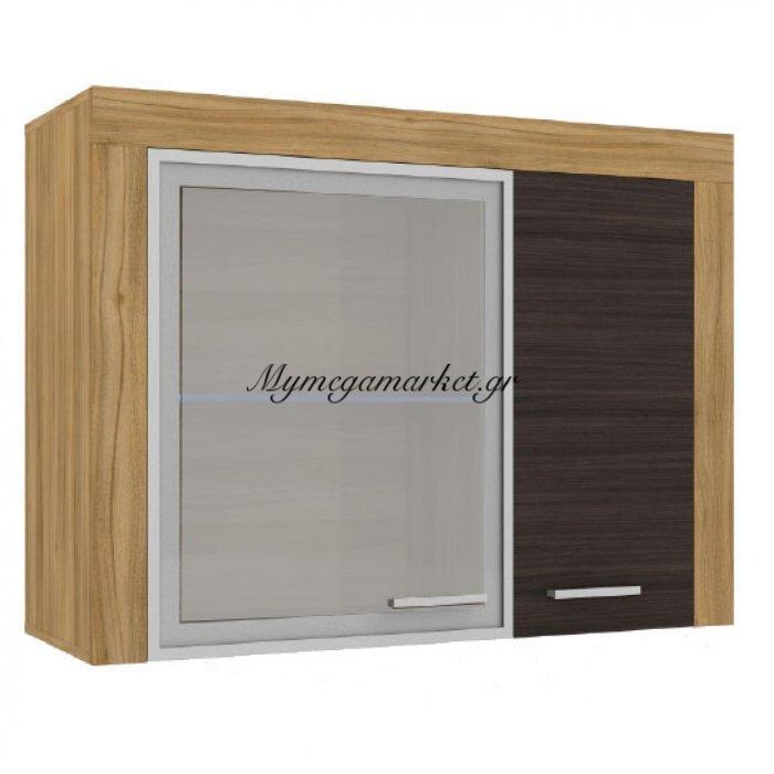 Nevio Wall Βιτρίνα Κρεμαστή 110X40X80, Χρυσός Δρύς-Wenge So-Neviowall | Mymegamarket.gr