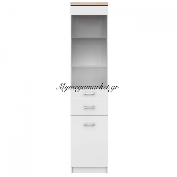 Top Mix Βιτρίνα 40X33X183, Λευκή-Σονόμα To-Top1D1W1Sw | Mymegamarket.gr