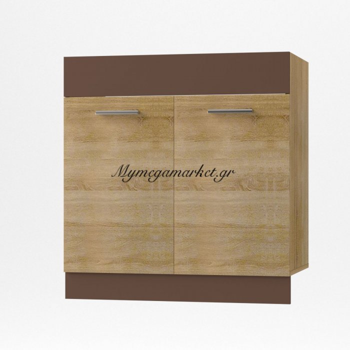 Alina Κάτω Ντουλάπι Νεροχύτη, 80X44,5X85, Σονόμα-Μόκκα So-Ad80S | Mymegamarket.gr