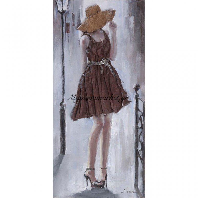 Πίνακας Με Ύφασμα, Γυναίκα 3D, 70X150 Εκ . W-140610A