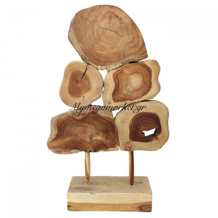 Ξύλινο Χειροποίητο Διακοσμητικό, Ύψους 60 Εκ, Σε Φυσικό Χρώμα. Ab-Ab2002 | Mymegamarket.gr