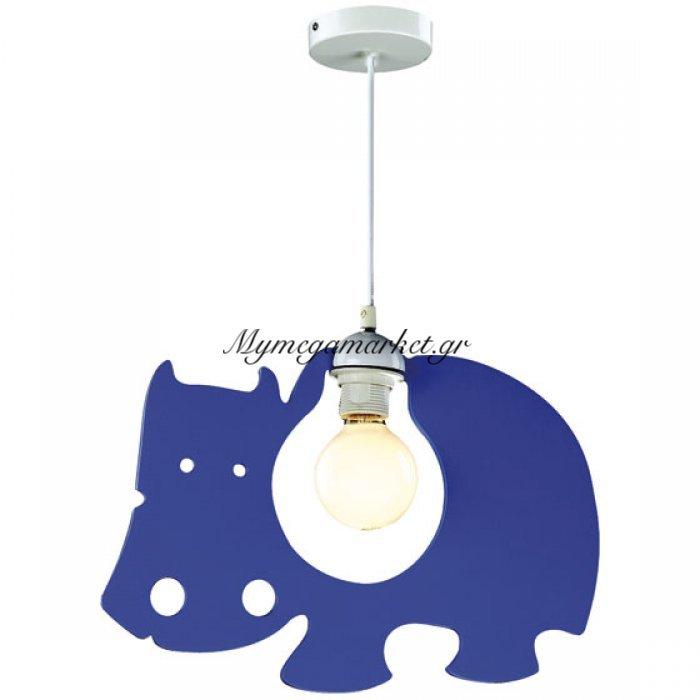 Παιδικό Κρεμαστό Φωτιστικό, 1 Λάμπα Τύπου E27, Μπλέ, 38*1*26, Ξύλινο Mdf, 60831D | Mymegamarket.gr