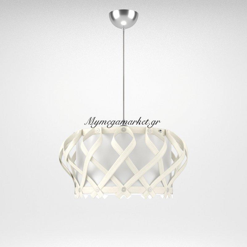 Φωτιστικό Κρεμαστό Venice Med Light Λευκό 1 Λάμπα Τύπου Ε27 Led 42*42*102 Med-10100 Στην κατηγορία Φωτιστικά οροφής | Mymegamarket.gr