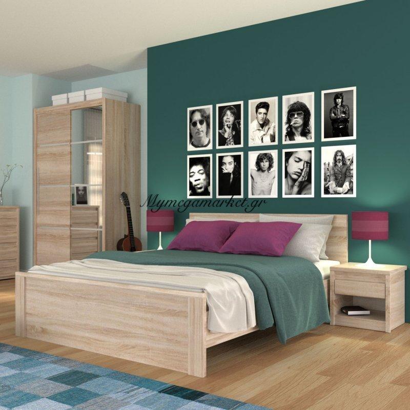 Norton Σετ Κρεβατοκάμαρας 3 Τεμαχίων, Χρώμα Σονόμα, To-Nortiloset3 Στην κατηγορία Κρεβάτια | Mymegamarket.gr
