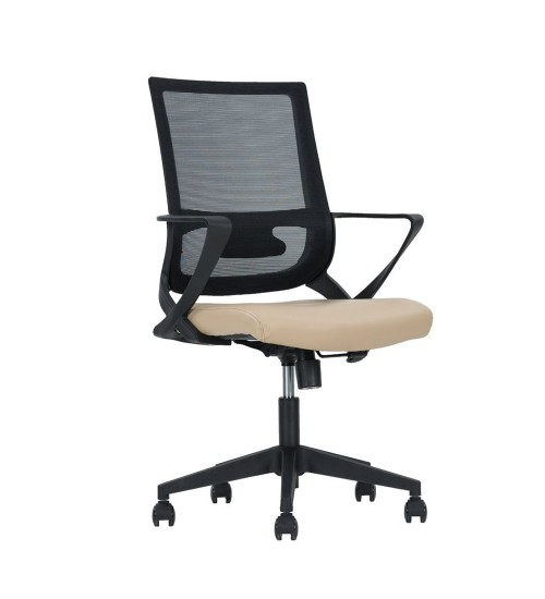 Cross Καρέκλα Γραφείου Μαύρο Beige 61 x 56 x H99/109 Εκ.