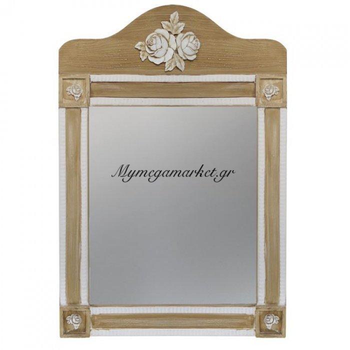 Καθρέπτης Melody Hm7009.01 Εκρού Καφέ Πατίνα 56Χ77.50 Εκ. | Mymegamarket.gr