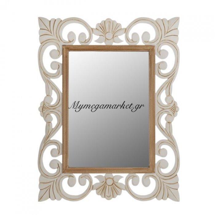 Καθρέπτης Firenze Hm7015.01 Εκρού Καφέ Πατίνα 60Χ80 Εκ. | Mymegamarket.gr