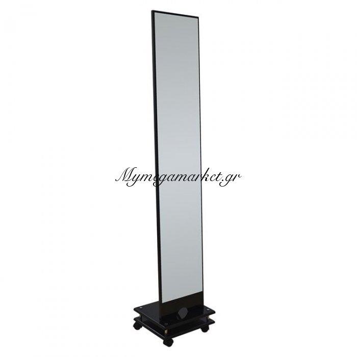 Καθρέπτης Δαπέδου Mdf Σε Χρώμα Λάκα Μαύρη Hm0603.02 35X30X173 | Mymegamarket.gr