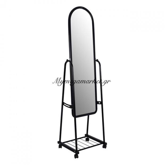Καθρέπτης Δαπέδου Μεταλλικός Σε Χρώμα Μαύρο Hm8262.02 | Mymegamarket.gr