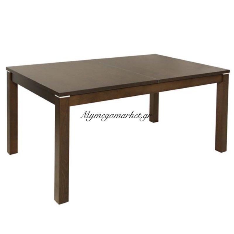Τραπέζι Τραπεζαρίας 150+44Χ90 Ανοιγμένο Ξύλινο Καρυδί Hm0066.01