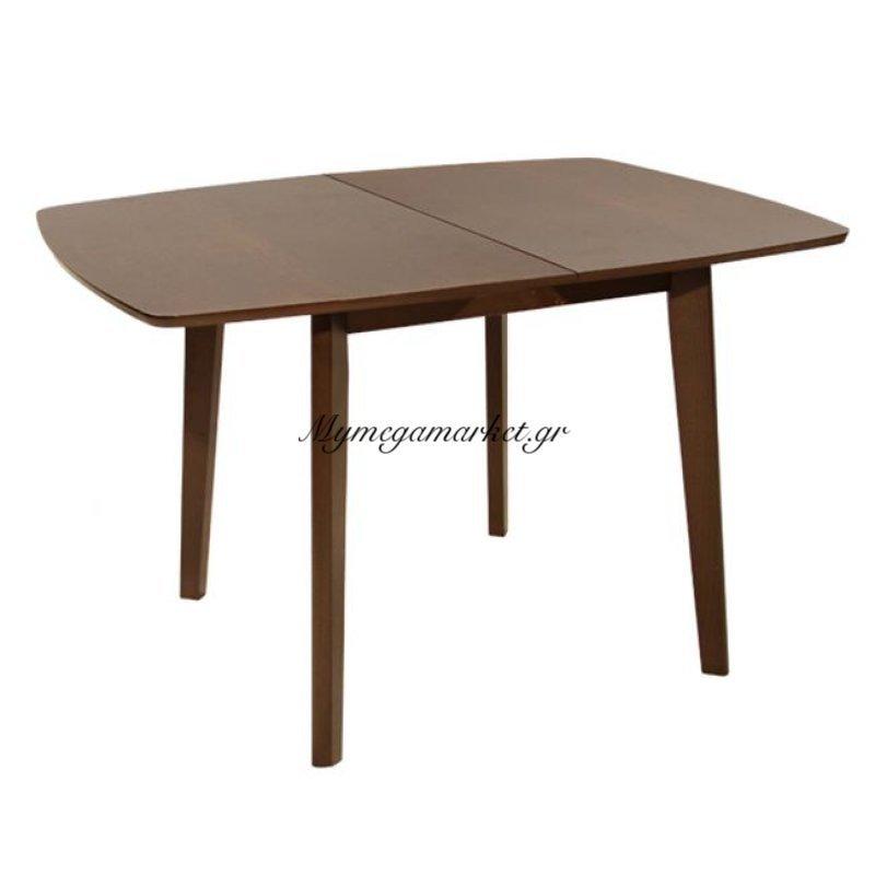 Τραπέζι Τραπεζαρίας 120+30Χ80 Ανοιγμένο Ξύλινο Καρυδί Hm0067.01