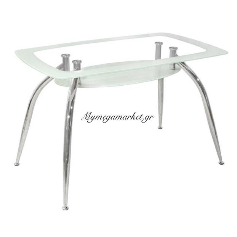 Τραπέζι Norris 120Χ75Χ75 Hm0086.01 Γυάλινο Λευκό