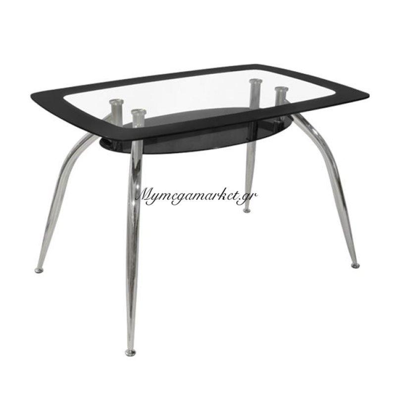 Τραπέζι Norris 120Χ75Χ75 Hm0086.02 Γυάλινο Μαύρο