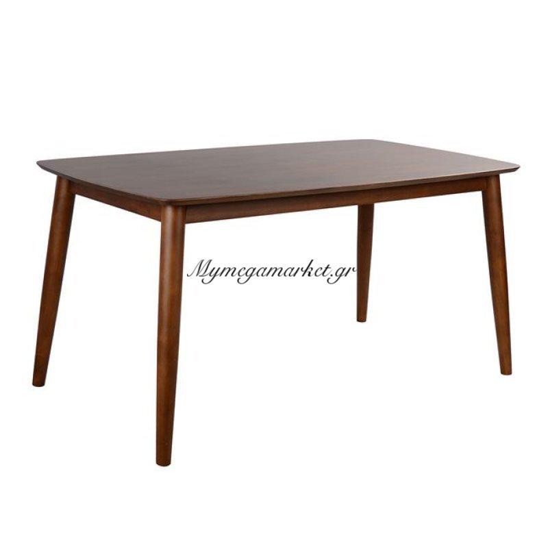 Τραπέζι Pavillion Καρυδί Hm0152 147X84 Με Ξύλινα Πόδια