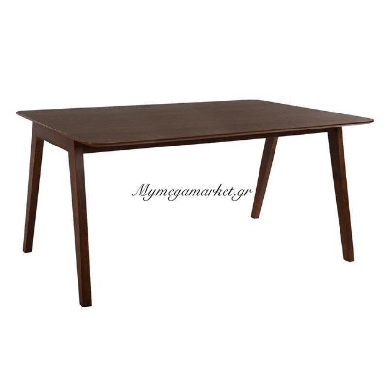 Τραπέζι Τραπεζαρίας Καφέ 160Χ90 Hm0134 Με Ξύλινα Πόδια