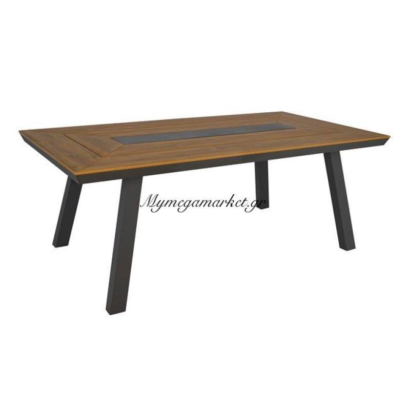 Τραπέζι Τραπεζαρίας Αλουμινίου 200X100 Γκρι Hm5131.02