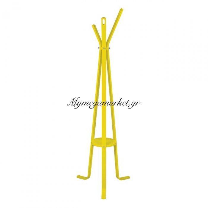 Καλόγερος Ξύλινος Με 3 Πόδια Hm8414.04 Stan Κίτρινος   Mymegamarket.gr