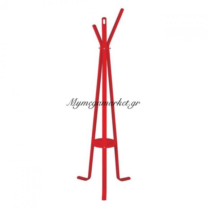 Καλόγερος Ξύλινος Με 3 Πόδια Hm8414.07 Stan Κόκκινος   Mymegamarket.gr