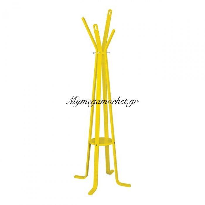 Καλόγερος Ξύλινος Με 4 Πόδια Hm0120.04 Funky Κίτρινος   Mymegamarket.gr