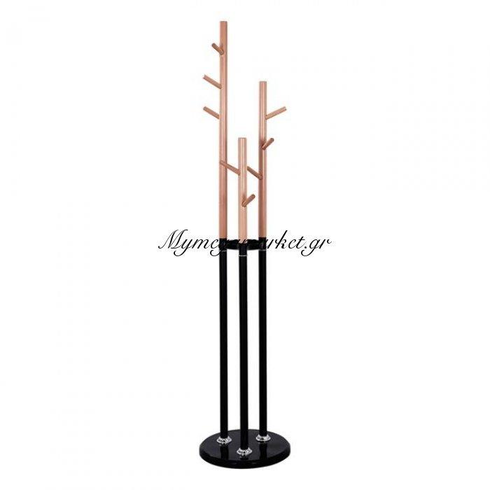 Καλόγερος Μεταλλικός Hm8610.02 Wyatt Χρώμα Οξιά Και Μαύρο Με Μάρμαρο   Mymegamarket.gr