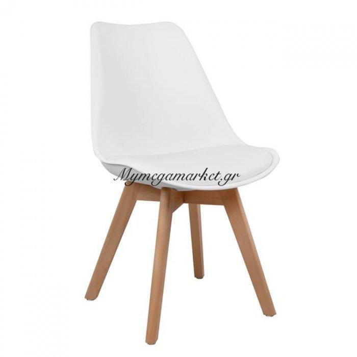 Καρέκλα Vegas Hm0033.01 Με Ξύλινα Πόδια Και Με Κάθισμα Λευκό | Mymegamarket.gr