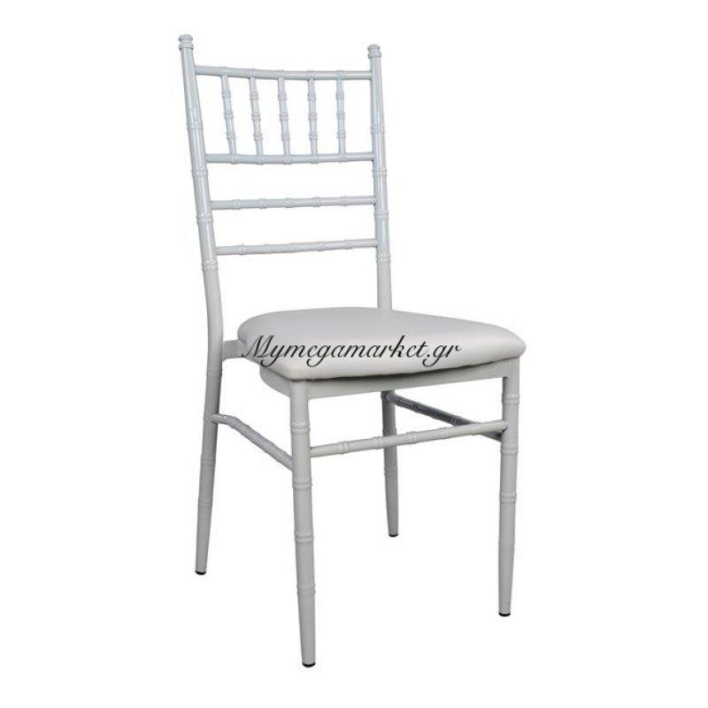 Καρέκλα Μεταλλική Jenny Με Λευκό Σκελετό Hm0055.02
