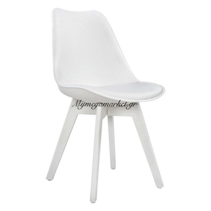 Καρέκλα Vegas Hm0033.31 Με Πλαστικά Πόδια Και Με Κάθισμα Λευκό