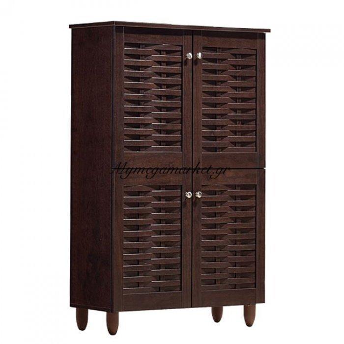 Παπουτσοθήκη-Ντουλάπι 4 Πόρτες Hm2210.01 Wenge 77Χ34Χ123Εκ. | Mymegamarket.gr