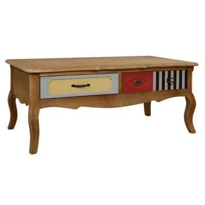 Τραπέζι Σαλονιού Gaston Hm7038 Natural Καφέ 110Χ55Χ46.5 | Mymegamarket.gr
