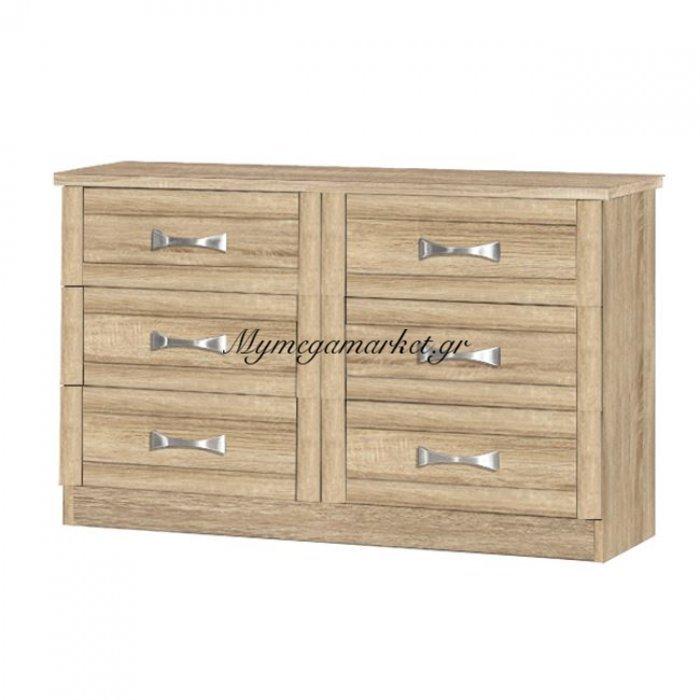 Τουαλέτα-Συρταριέρα Hm317.02 Με 6 Συρτάρια Sonama 120X40X76Εκ. | Mymegamarket.gr