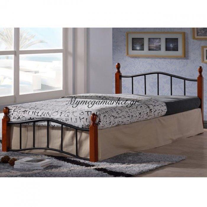 Κρεβάτι Μέταλλο Ξύλο Lucy Hm301 90X190 | Mymegamarket.gr