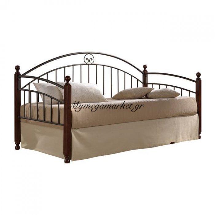 Καναπές Κρεβάτι Carol Hm304 Μέταλλο Με Ξύλο 90Χ190 | Mymegamarket.gr