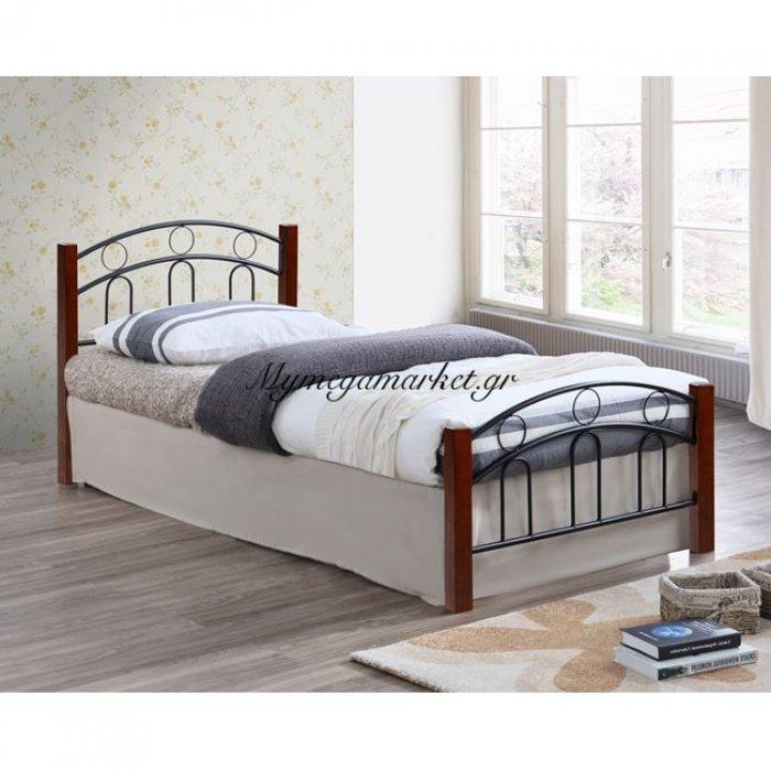 Κρεβάτι Μέταλλο Ξύλο Μονό Hm341 90Χ190 | Mymegamarket.gr