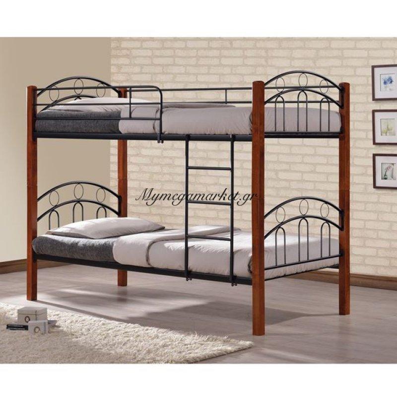 Κουκέτα Κρεβάτι Hm344 90X190 Μέταλλο+Ξύλο