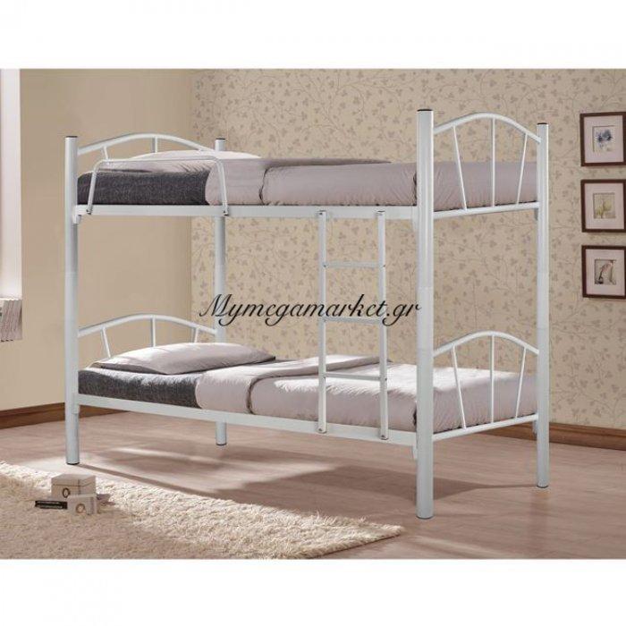 Κουκέτα Κρεβάτι Μεταλλική Floor Hm328.02 Λευκή 90Χ190   Mymegamarket.gr