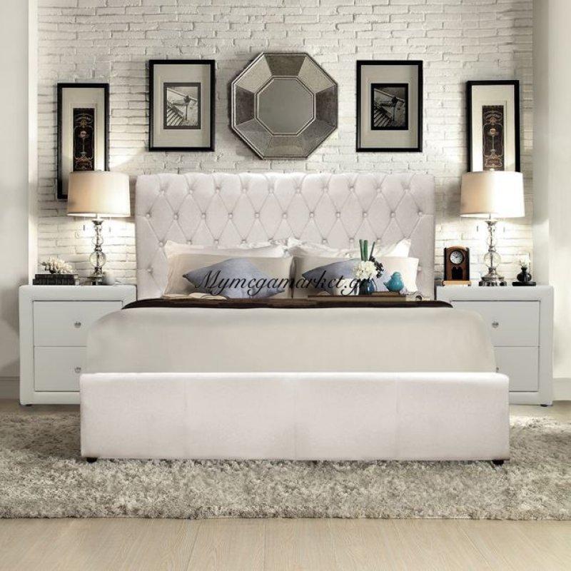 Κρεβάτι Queen Hm365.02 Με Ματ Λευκό Pu 150Χ200 Στην κατηγορία Κρεβάτια ξύλινα - Μεταλλικά | Mymegamarket.gr