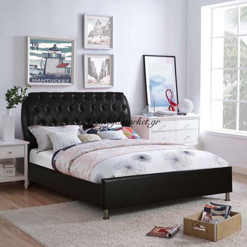 Κρεβάτι Ariane Pu Σκούρο Καφέ Hm541.01 150Χ200 Στην κατηγορία Κρεβάτια ξύλινα - Μεταλλικά | Mymegamarket.gr