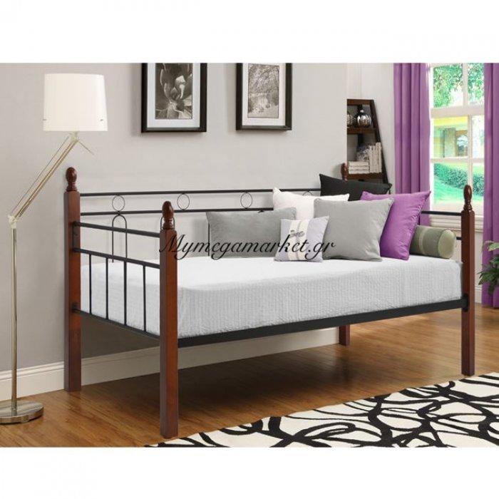 Καναπές Κρεβάτι Mila Hm367 Μέταλλο Και Ξύλο 90Χ190.5 | Mymegamarket.gr