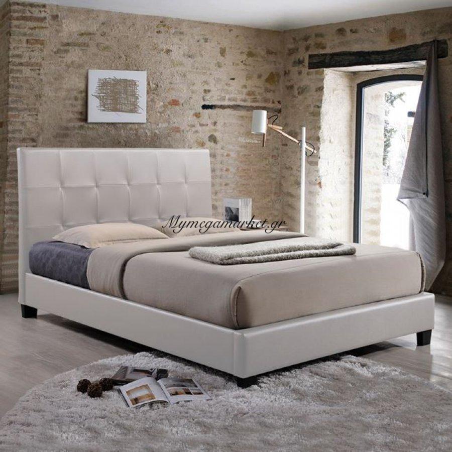 Κρεβάτι Odette Με Pu Λευκό Hm540.02 150X200 | Mymegamarket.gr