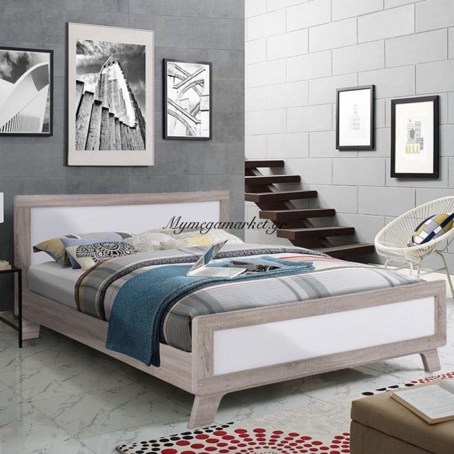 Κρεβάτι Karla Hm2277 Διπλό 150Χ200 Sonama & Snow White | Mymegamarket.gr