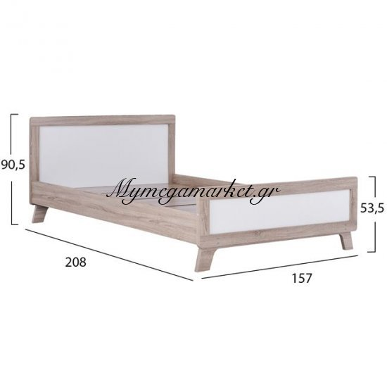 Κρεβάτι Karla Hm2277 Διπλό 150Χ200 Sonama & Snow White Στην κατηγορία Κρεβάτια ξύλινα - Μεταλλικά | Mymegamarket.gr