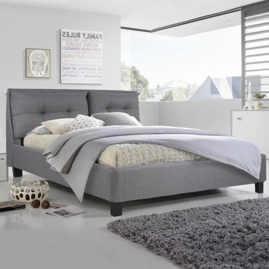 Κρεβάτι Billie Με Ύφασμα Dark Grey Hm551.05 160 x 200