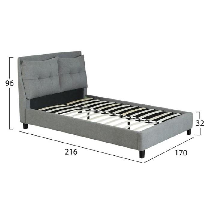 Κρεβάτι Billie Με Ύφασμα Dark Grey Hm551.05 160 x 200   Mymegamarket.gr